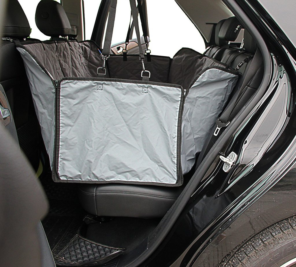 INNX Waterproof Quilted Microfiber Dog Seat Cover Covertible Hammock Pets Bench Seat Cover