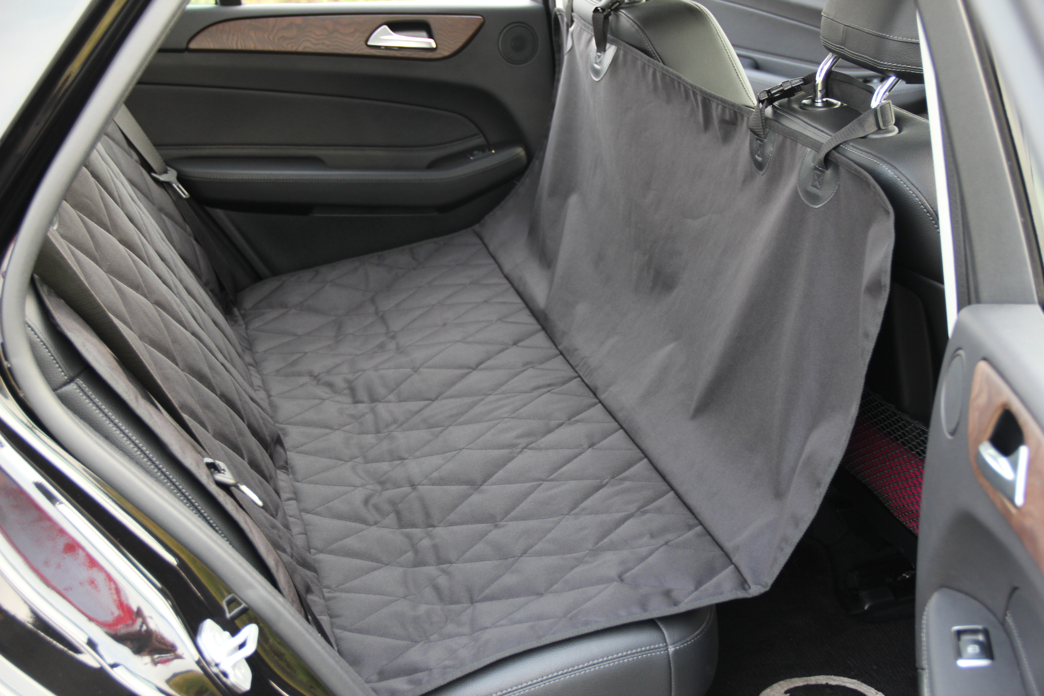 INNX OP902001 Waterproof Quilted Dog Seat Cover with Non Slip Backing  Covertible Hammock Bench Seat Cover for Sedan Cars, Trucks, SUVs or Minivans Size 58